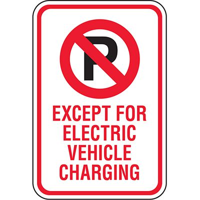 California Traffic & Parking Signs - Electric Vehicle Charging Only