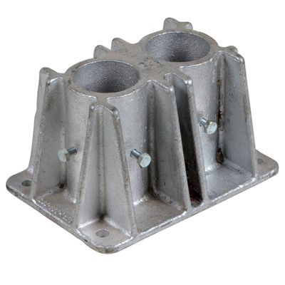 Cast Steel Double Socket With Toeboard Access