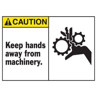 Caution Keep Hands Away Equipment Decal