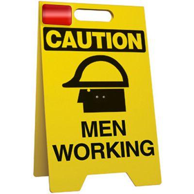 Caution Men Working - Floor Stand