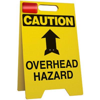Caution Overhead Hazard - Floor Stand