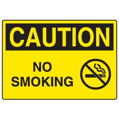 OSHA Caution Signs - No Smoking