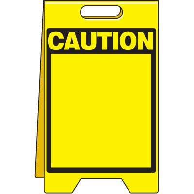 Caution - Write-On, Wipe-Off Floor Stand