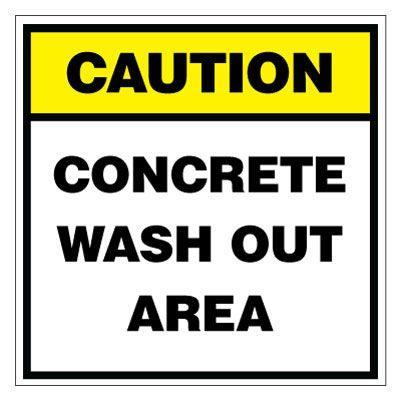 Caution Concrete Wash Out Are Sign