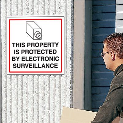 CCTV Warning Signs - Protected Property