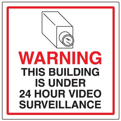 CCTV Warning Signs - 24 Hr Surveillance