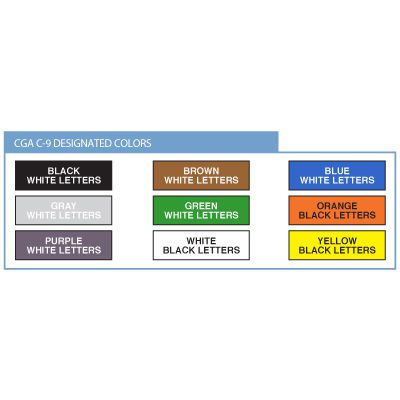 Opti-Code™ Self-Adhesive Medical Gas Pipe Markers - Oxygen