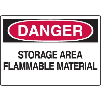 Chemical & HazMat Signs - Storage Area Flammable Material