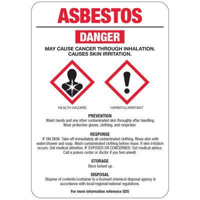 Asbestos GHS Sign