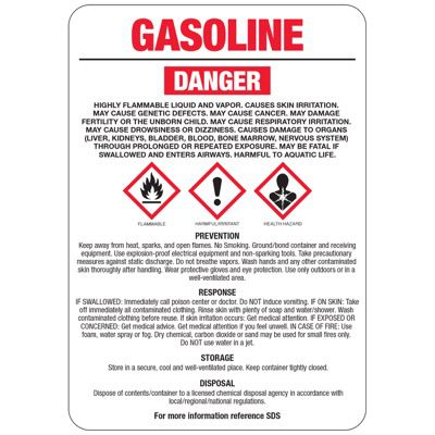 Gasoline GHS Sign