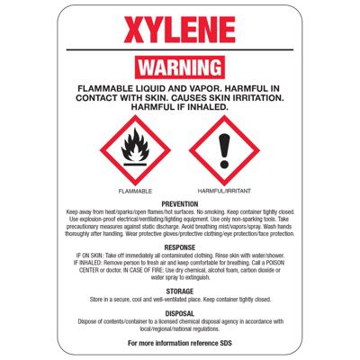 Xylene GHS Sign