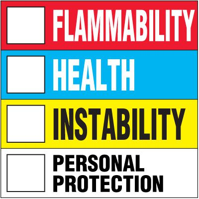 Color Bar Key Chemical Hazard Label