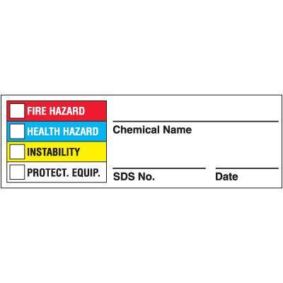 Super-Stik Chemical Hazard Label
