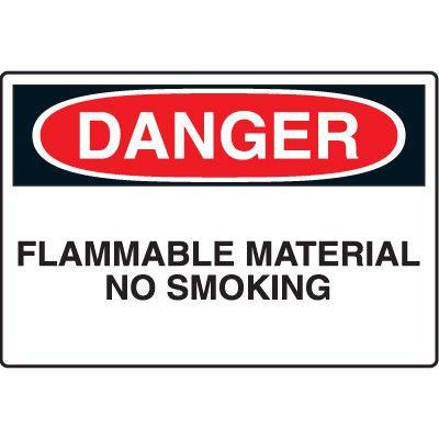 Chemical & HazMat Signs - Danger Flammable Material