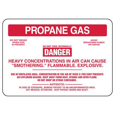 Propane Gas Danger Flammable - Chemical Sign