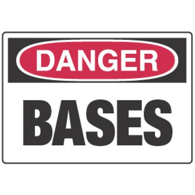 Chemical Signs - Danger Bases