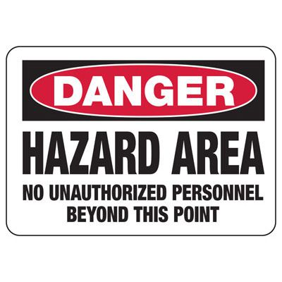 Chemical Signs - Danger Hazard Area