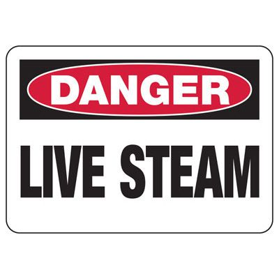 Chemical Signs - Danger Live Steam