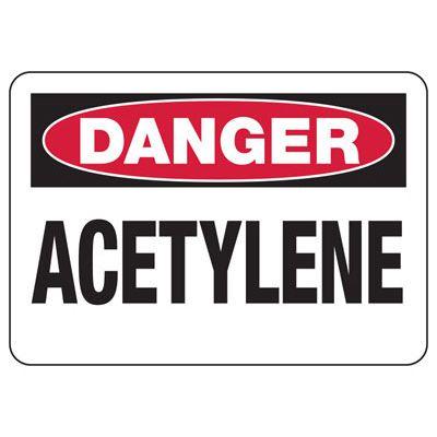 OSHA Danger Signs - Acetylene