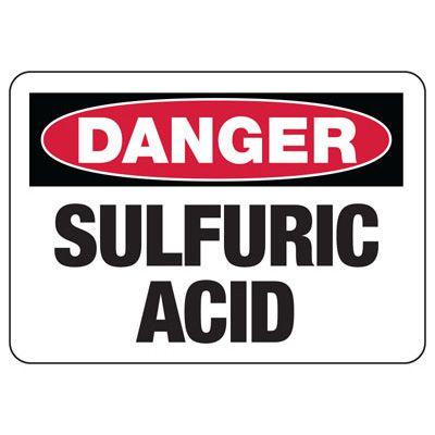 Danger Signs - Sulfuric Acid