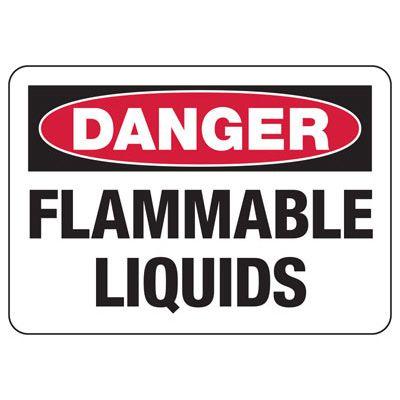 Danger Signs - Flammable Liquids