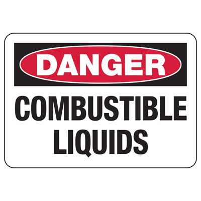 OSHA Danger Signs - Combustible Liquids