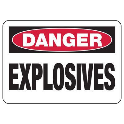 Danger Signs - Explosives