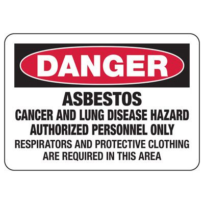 Asbestos Warning Signs - Danger Asbestos