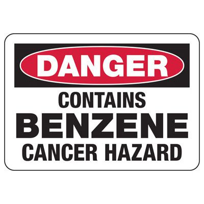 Chemical & HazMat Signs - Contains Benzene Cancer Hazard