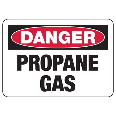 Danger Propane Gas - Industrial Chemical Warning Sign