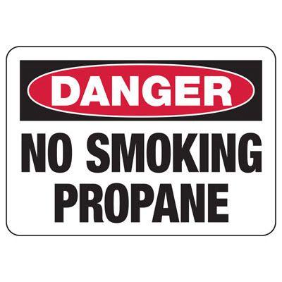Danger No Smoking Propane - Industrial Chemical Warning Sign