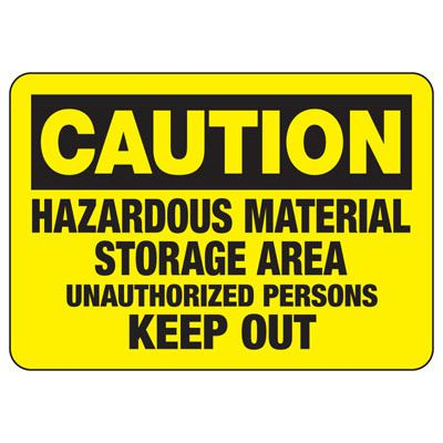 Caution Hazardous Material - Industrial Chemical Warning Sign