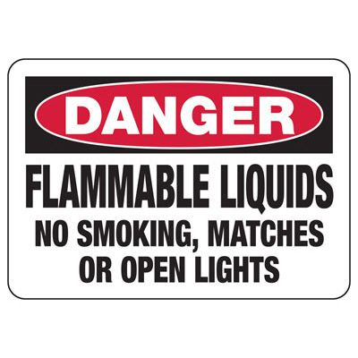Danger Flammable Liquids - Industrial Chemical Warning Sign