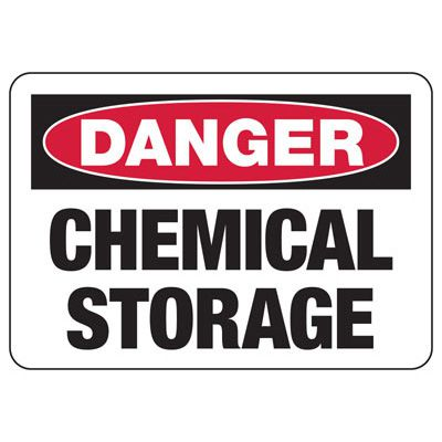 Danger Chemical Storage - Industrial Chemical Warning Sign