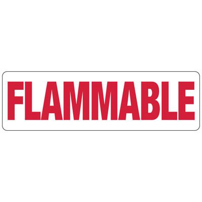 Flammable - Industrial Chemical Signs