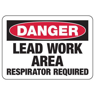 Danger Lead Work Area - Industrial Chemical Warning Sign