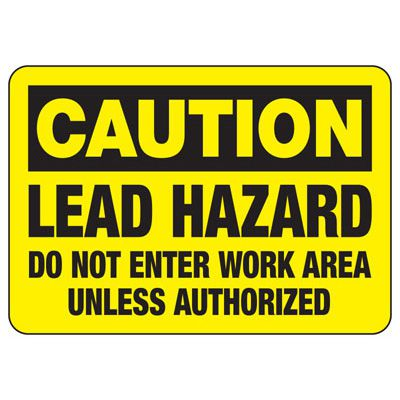 Caution Lead Hazard - Industrial Chemical Warning Sign
