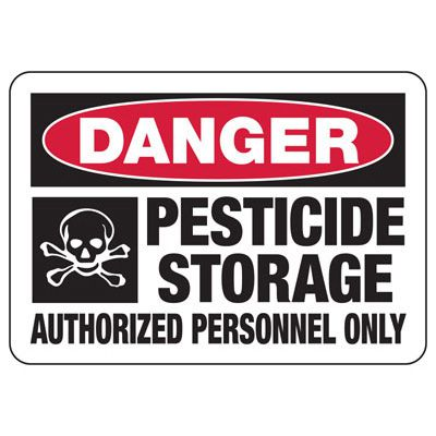 Danger Pesticide Storage - Industrial Chemical Warning Sign