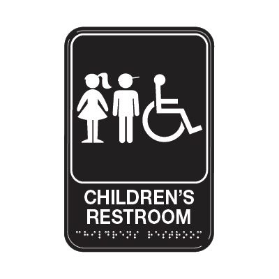Children's Restroom W/ Accessibility - Graphic ADA Braille Tactile Signs