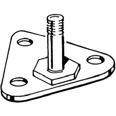 Quantum Chrome Wire Shelving Foot Plate FP