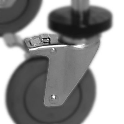 Quantum Chrome Wire Shelving Mobile Kit WR-00