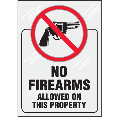 Clear Security Labels - No Firearms