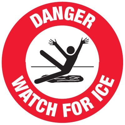 Anti-Slip Floor Markers - Danger Watch For Ice