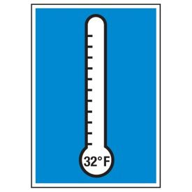Cold Adhesion Safety Labels - (Thermometer Graphic)