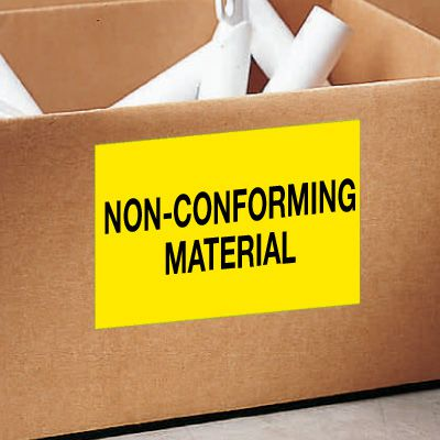 Non-Conforming Material Color Coded QC Labels