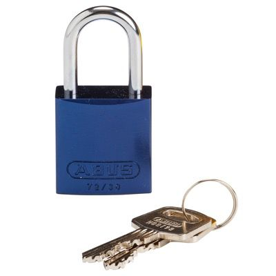 Brady Compact Keyed Different 1 inch Shackle Aluminum Padlocks - Blue - Part Number - 133271 - 1/Each