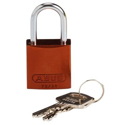 Brady Compact Keyed Different 1 inch Shackle Aluminum Padlocks - Brown - Part Number - 133276 - 1/Each
