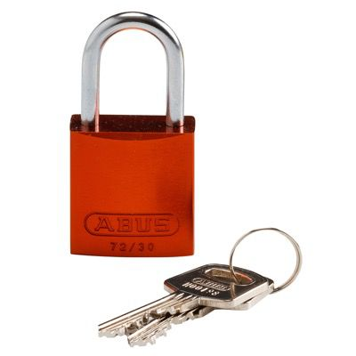 Brady Compact Keyed Different 1 inch Shackle Aluminum Padlocks - Orange - Part Number - 133274 - 1/Each