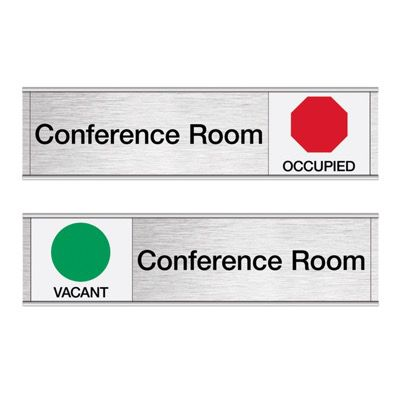 Conference Room-Vacant/Occupied - Engraved Facility Sliders
