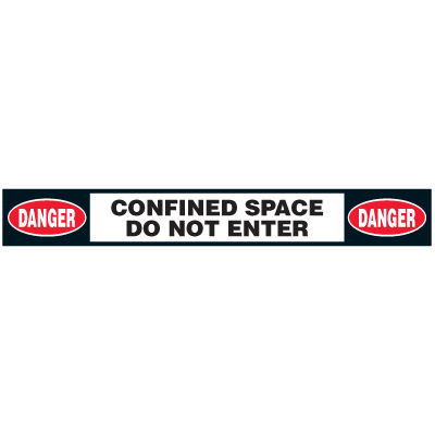 Confined Space Floor Marking Strips - Danger Confined Space Do Not Enter